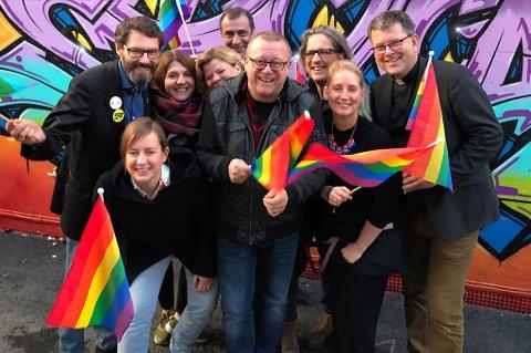 KLARE: Denne gjengen ser fram til å feire kjærlighet og mangfold under Tromsø Arctic Pride 6.-12. november.