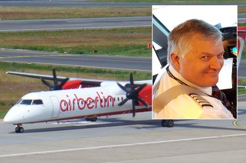 UNIK SJANSE: Konkursen i tyske Air Berlin er en unik mulighet, mener flygründer Ola O. K. Giæver. Men om han har penger til å satse stort, er mer usikkert.