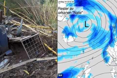 ØDELEGGELSER: Orkanen «Nate» har skapt store ødelegger i Nord- og Mellom-Amerika, som her i Costa Rica.