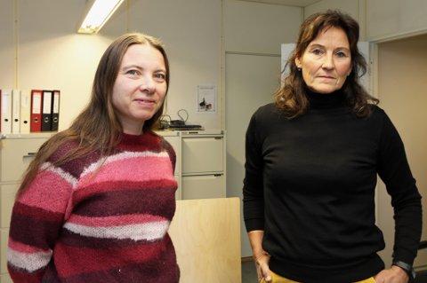 HÅPER PÅ ENDRING: Hilde Lin-Olsen og Nina Walthinsen i Gatejuristen Tromsø, håper at de klarer å reversere kuttene før budsjettet blir vedtatt