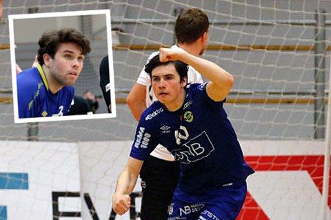 SEMIFINALEKLAR: Daniel Jakobsen og Morten Forøy (innfelt) er sammen med Bodø HK klar for semifinalen i cupen i håndball. Der fikk BHK drømmetrekning med å møte Kolstad på hjemmebane.