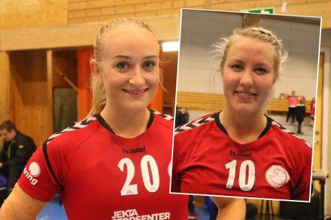 TØFF DUO: Tromsø HK spiller tøffest av alle lag i de tre øverste nivåene i Norge. Ingrid Kildalsen (t.v) og Vilde Evensen (t.h) er de spillerne som har pådratt seg mest disiplinærpoeng så langt.