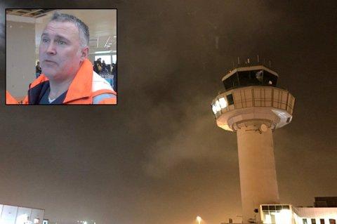 VURDERER ANMELDELSE: Lufthavnsjef Ivar Helsing Schrøen ser svært alvorlig på dronehendelsen tirsdag ettermiddag.