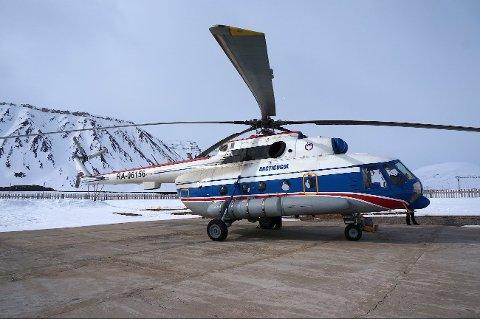 STYRTET: Helikopteret er av type Mi-8. Bildet er av samme type helikopter og er tatt i mars 2014.