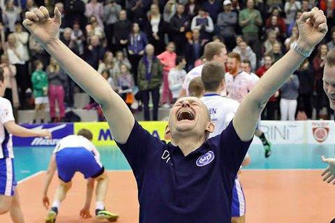 JUBELÅPNING: Edgar Broks, her ved en tidligere anledning, kunne juble for 3-0-seier i serieåpningen mot Koll. Nykommer Theodor Thorvaldson markerte seg meget sterkt med 19 poeng i kampen.