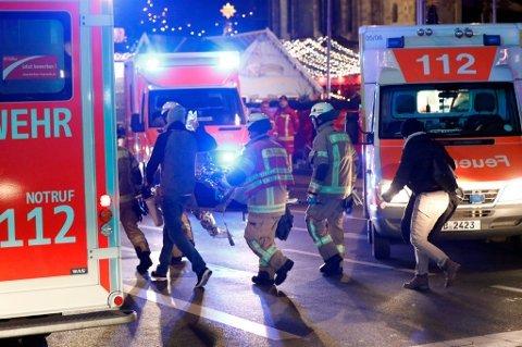 TERROR: En lastebil braste inn i et julemarked i Berlin i desember i fjor. 12 mennesker mistet livet.