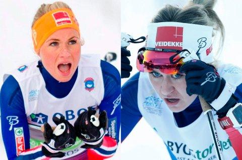 STERKE LØP: Silje Theodorsen (t.v.) endte på en femteplass, mens Emilie Kristoffersen (t.h.) gikk seg inn på seierspallen under norgescupen på Gålå fredag.