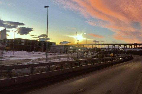 ÅPNER SNART: Førjulsgave til tromsøbilistene: Otium-krysset åpner før jul. Foto: Stian Saur