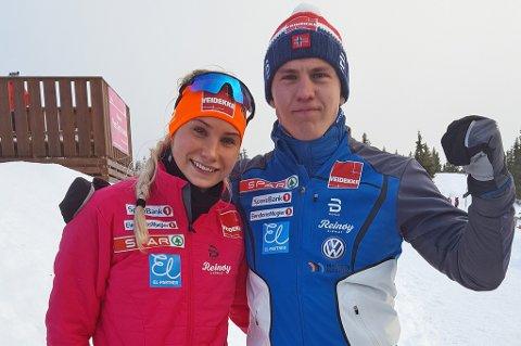 Lovise Heimdal og Erik Valnes kom til finalen på sprinten lørdag - og leverte kruttsterke prestasjoner også søndag.