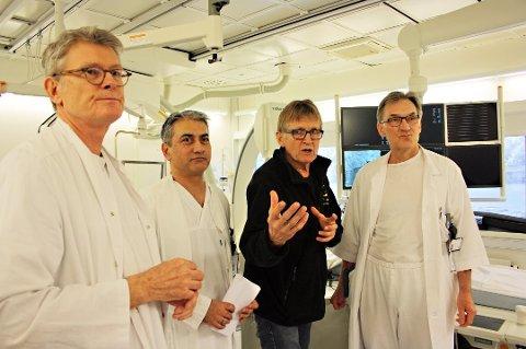SKEPTISK: UNN-miljøet frykter at risikoanalysegruppen som ble satt ned for å utrede PCI-saken, har fått for kort tid. Her er Rolf Busund (fra venstre), Amjid Iqbal, Mads Gilbert og Terje Steigen.