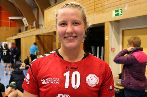 MEDGANG: Vilde Evensen fikk bestemannsprisen i THKs hjemmeseier mot Vikersund.