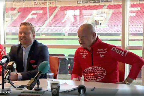 NY FFK-TRENER: Per-Mathias Høgmo (t.h) er klar som ny trener for Fredrikstad FK.