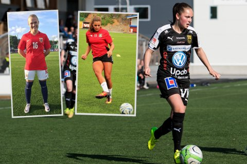TALENTER: Martine Romsdal (f.v.), Gabrielle Lie og Helene Schjelderup er tre av Nord-Norges største fotballtalenter, mener Nordlys' journalist.
