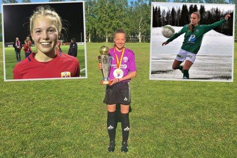 TALENTFULLE: Lotte Fikseth Fossem (f.v.), Emma Granlind og Kamille Hofsøy Steffensen er tre av mange lovende spillere fra Nord-Norge, mener Nordlys' journalist.
