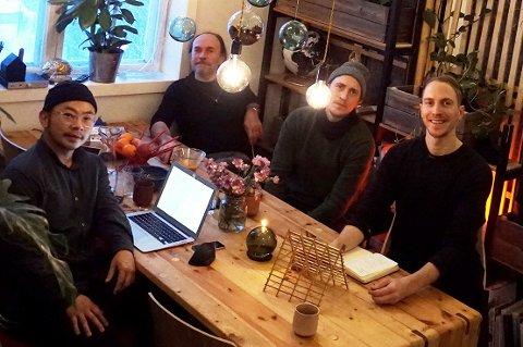 Kreative karer på Eliborg, Phuc Tan Nguyen (t.v.), Agnar Kalseth, Tord M. Kalseth og Kyrre M. Kalseth, daglig leder Erlikpluss.