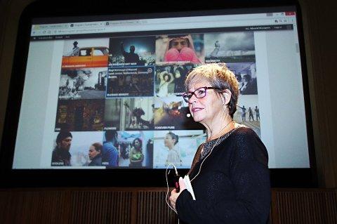 Martha Otte er godt fornøyd med 2018s festivalprogram. Her er hun på 2017-lanseringen.