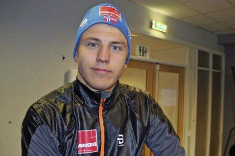 PERSONLIG BESTE: Erik Valnes ble nummer fem på sprinten i Skandinavisk Cup lørdag. Det er hans beste plassering noen gang i konkurransen, og et voldsomt byks fra 49.plassen han hadde som personlig rekord fra før.