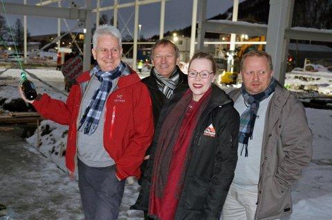 UTVIKLERE AV TROMSDALEN: Morten Lind Olsen (f.v), Karl Johan Jakola, Ida K. Jakobsen og Rolf Jacobsen er sentrale i anleggsløftet i Tromsdalen.