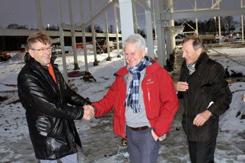 Jarle Aarbakke (f.v), Morten Lind Olsen og Karl Johan Jakola.