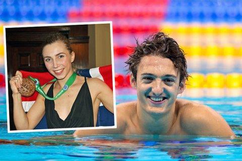 NOMINERT: Kristin Vollstad (innfelt) og Adam Ismael Wenham er nominert til å vinne pris under årets idrettsgalla.