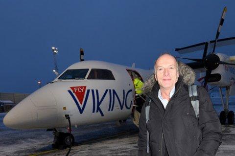 ORIENTERTE DE ANSATTE: Daglig leder i FlyViking, Heine Richardsen, har orientert de ansatte om at flyselskapet legger ned. Han sier at beskjeden ble mottatt på en «profesjonell» måte.