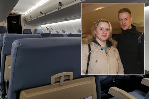 KORT LEVETID: - Om jeg blir å savne dem? Vi rakk jo knapt å bli kjent med dem, sier FlyViking-passasjerene Silje Karlsen og Jørn Inge Mathisen etter melding om at flyselskapet legger ned.