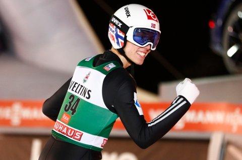 PÅ JAKT ETTER MER JUBEL: Johann André Forfang hopper nytt individuelt renn i Russland søndag.