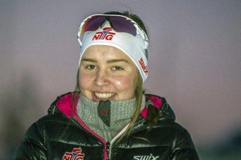 Synne Arnesen er aktuell for junor-VM etter at hun ble nummer tre i mønstringsrennet lørdag.