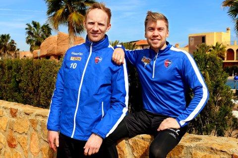 Peter Kovacs og Thomas Kind Bendiksen gleder seg til møtet med gamleklubben TIL i La Manga fredag.