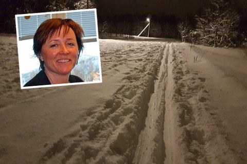 SKUFFET: Daglig leder i Troms Idrettskrets og arrangementsansvarlig i Tromsø Skiklubb langrenn, Sylvi Ofstad, er skuffet over manglende tråkking av skiløypene i Tromsø.