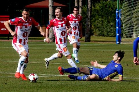 Jonas Johansen, Morten Gamst Pedersen og Simen Wangberg mot russiske Rostov i Tyrkia.