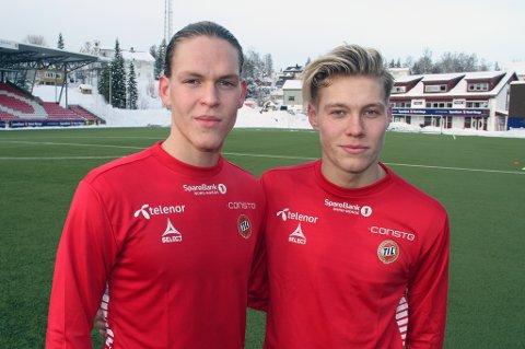 Ægir Jarl Jonasson (19, t.v) og Birnir Snær Ingason (20) håper på overgang til TIL.