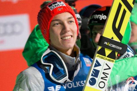 Johann André Forfang leverte svimlende 242,5 meter i Vikersund søndag.