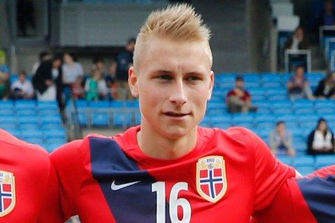 STARTET FOR NORGE: Ulrik Yttergård Jenssen, Mikael Norø Ingebrigtsen og Runar Espejord startet for Norges U21-landslag fredag.