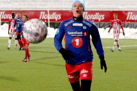 Christer Johnsgård for TUIL i kampen mot TIL på Alfheim mandag kveld. 30-åringen mener det bare gir gode følelser å komme tilbake for å møte klubben han ikke fikk ny kontrakt med etter 2016-sesongen.