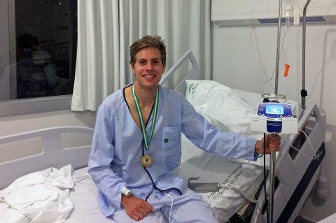 Hans Kristian Smedsrød ble innlagt på sykehus i Spania forrige gang han løp ultraløp, i oktober i fjor. Lørdag deltok han igjen, og vant KRSUltra i Kristiansand med ny løyperekord.