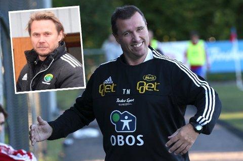 Det ble ganske opphetede ordvekslinger sist Tom Nordlie og Bjørn Johansen (innfelt) møttes på trenerbenkene i PostNord-ligaen. Søndag kommer Nordlie og Skeid på besøk til Finnsnes.