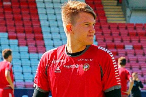 Jacob Karlstrøm debuterer i eliteserien mot Sarpsborg 08 i dag.