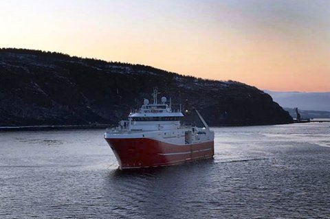 Her er den norske fiskebåten Remøy i Murmansk. Foto: Peter Paulsen