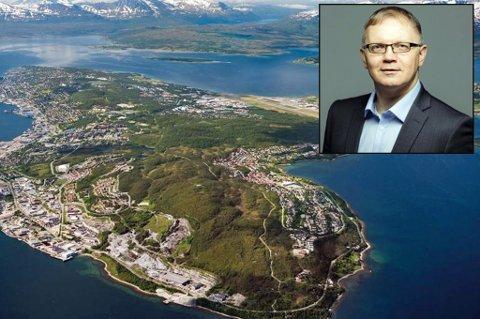 PROBLEM: Mangelen på tilgang til næringsarelaer nord på øya, er et stort problem, mener direktøren i Næringsforeningen i Tromsøregionen, Nils Kristian Sørheim Nilsen.