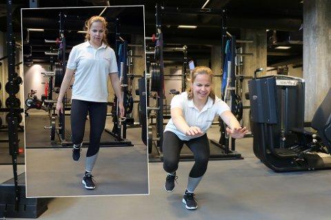 Fysioterapeut Kristine Nergaard ved Klinikk24 demonstrerer styrke- og mobilitetsøvelsene som vil gjøre deg raskere og hjelpe deg å unngå skader.