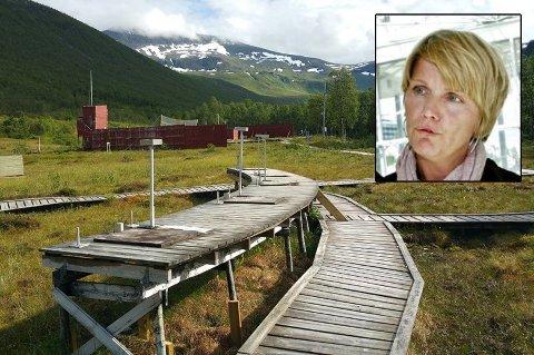 KAN RIVES: Nå skal politikerne avgjøre om skytebanen i Tromsdalen skal rives. Byutviklingssjef Mette Mohåg har tidligere varslet at dette kunne bli utfallet.