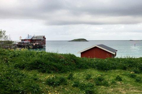 Skuddene skal ha blitt avfyrt fra Kråkeslottet til venstre, og mot pålen i havet som vises helt til høyre på bildet.
