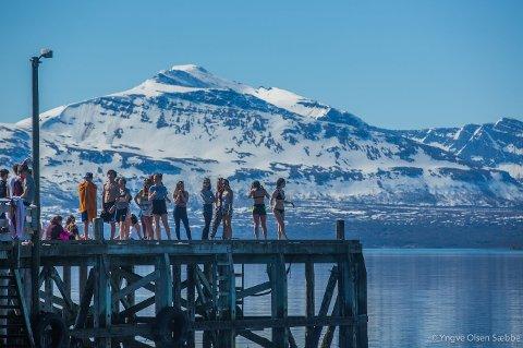 7f7c6a4b SOMMER OG SOL: De siste dagene har været i Tromsø vært regelrett fantastisk.