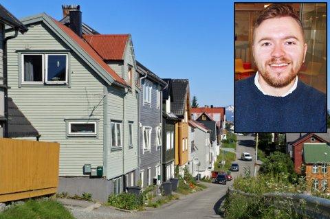 MYE UTLEIE: Dan Peter Granath leier nå ut flere leiligheter i Tromsø. Èn av dem ligger her, i Rektor Steens gate i Tromsø sentrum. Foto: Stian Saur/Astrid Øvre Helland