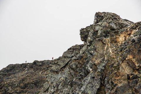 HAMPEROKKEN: Her skal det vaskes og ryddes for stein før Tromsø Skyrace går av stabelen neste uke.