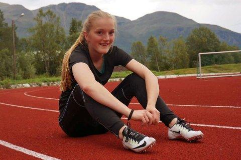 OL-KLAR: Maria Helene Fagerli (15) fra Storfjord er tatt ut til ungdoms-OL i friidrett.