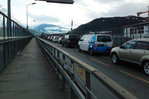 TROMSØBRUA NESTE: Etter to år med stengte Tromsøysundtunnel, står Tromsøbrua for tur med oppgradering denne høsten.