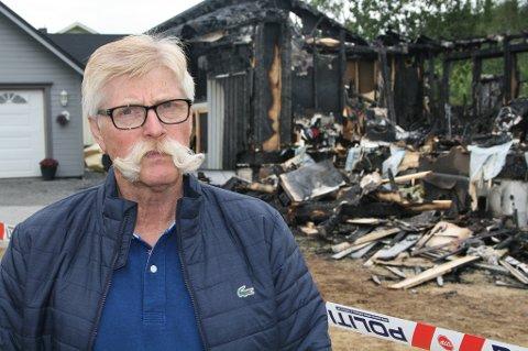 STO OM LIV: Ole Roger Storås forteller om høydramatiske minutter og sekunder da familiens hus begynte å brenne natt til søndag.