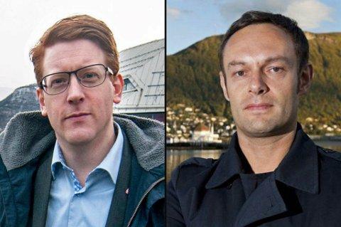 TETT: Drøyt 1000 stemmer skiller nå Torgeir Knag Fylkesnes (SV) og Aps sin andrekandidat Martin Henriksen.
